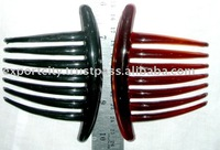 plastic hair comb 10.2cm (4inch) black or brown