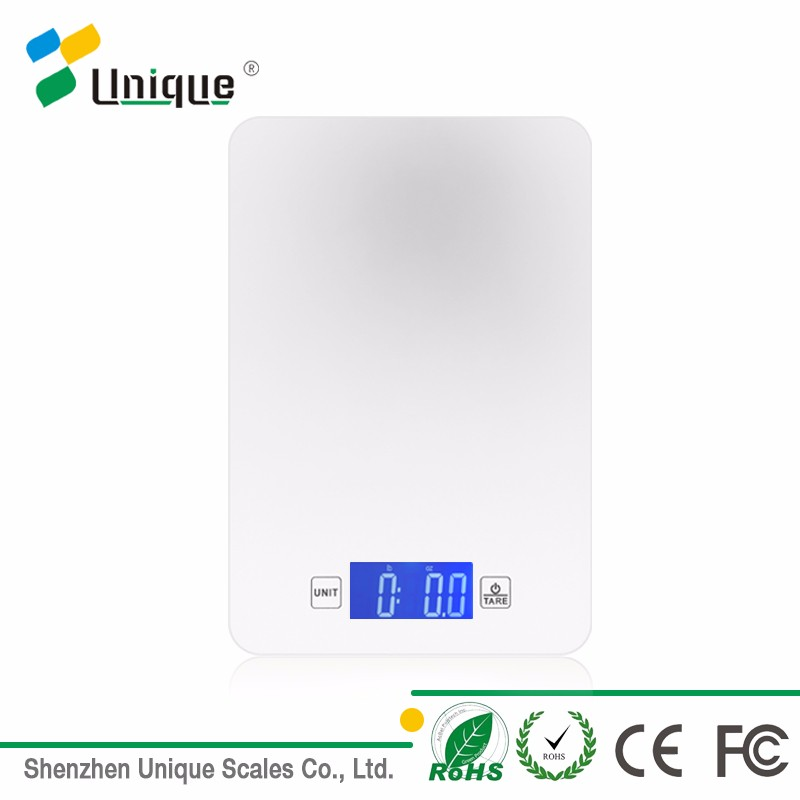 2017 Waterproof Glass Backlight LCD Slim 5kg Electronic Digital Kitchen Food Weighing Scale
