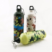 amazon hot army green aluminum sports bottle custom drink detox water bottle