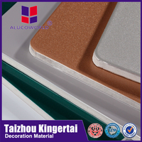 Alucoworld non-toxic and low-density Polyethylene pvdf/pe aluminum composite panel acp for bus decoration