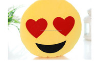 2016 hotsale wholesale custom printed custom plush emoji pillow stuffed toys whatsapp emoji pillow