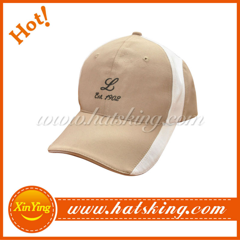 fitted solid cotton baseball cap sweatband