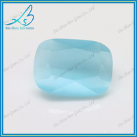 Perfect jewelry making gem stone Cushion cut auamarine cat eye gem stone