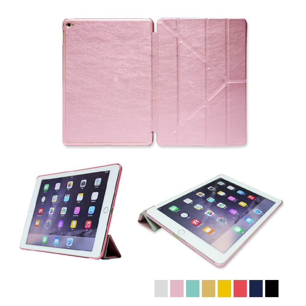 Factory Price Auto Wake and sleep function PU leather cover for ipad case protective case