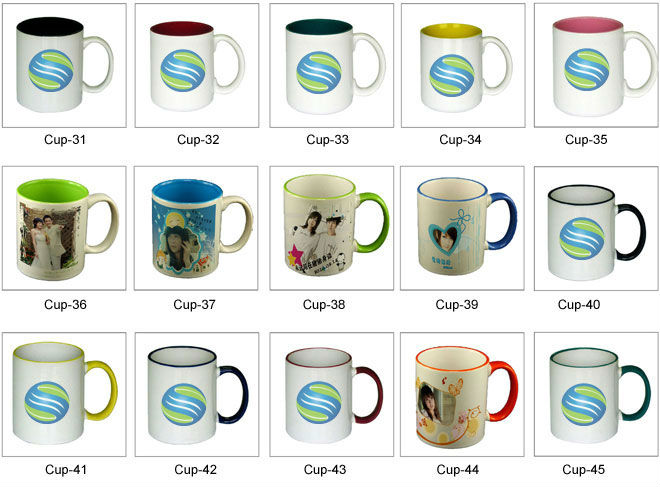 Blank sublimation mugs