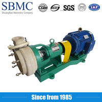 High pressure alkali liquid teflon lined waste water centrifugal slurry pump