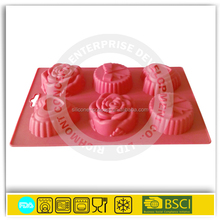 flower shape silicone cupcake mold bakeware moulds