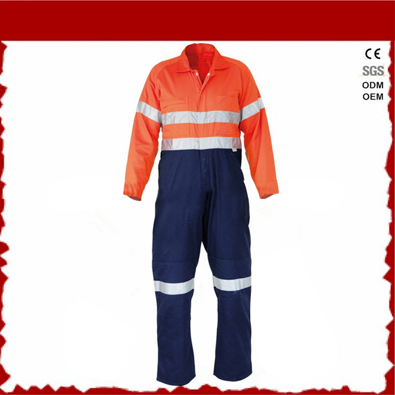 hi vis reflective overall safety worker uniforms