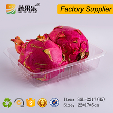 Disposable transparent plastic food packaging container box
