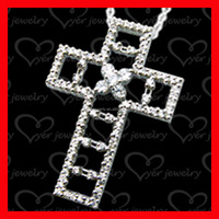 solid large sterling silver cross pendant for ladies wholesaler in China