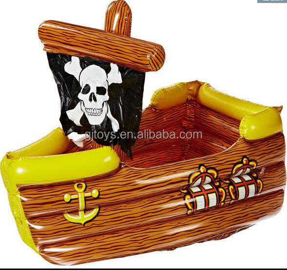 PVC Inflatable Pirate Ship Wine Bottle Chiller