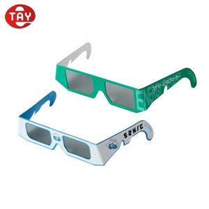 Disposable low price 3D plastic red blue cyan glasses for movie game