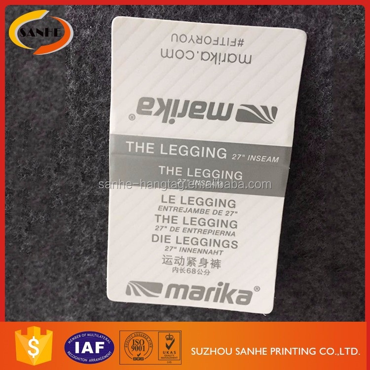 Customized Paper Print UV Clothing Tags Labels