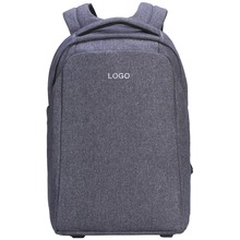 Custom gray oxford daypack computer back pack oem 17'' laptop backpacks made in china