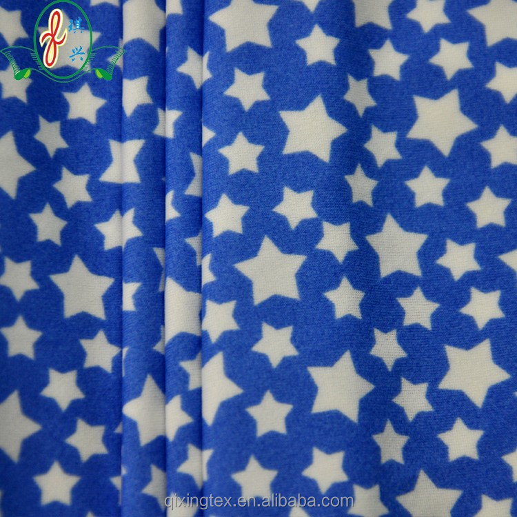 blue stars printed spandex swimming <strong>fabric</strong> bulk nylon <strong>fabric</strong> for sale