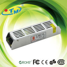 ac to dc led transformer 220v to 12v constant voltage led SMPS 12V 80W 6.6A high efficiency power with CE,FCC,Rohs approved