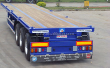40ft Flatbed Trailer/Flatbed Trailer with Three Axles/Flatbed with Wood Floor