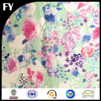 Custom digital printed 100 cotton floral poplin fabric for clothing