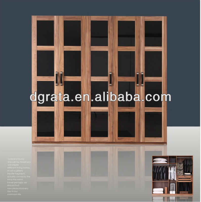 2013 new style big wardrobe furniture in solid chipboard to be finished for the house furniture sets