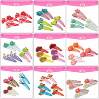 Factory ecofriendly kid hair accessory korean snap clip wholesale resin glitter puff butterfly magnetic flower hair clip design
