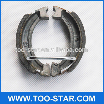 Motorcycle brake shoes system for PW50