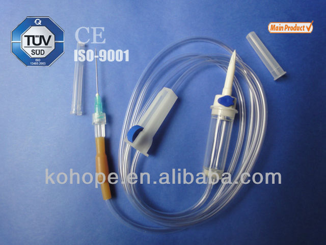 disposable Sterile infusion drip set with needle