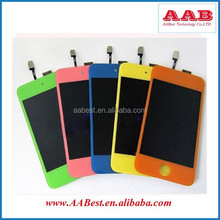 colored lcd screen + back housing + home button full conversion kit sets for ipod touch 4 th generation