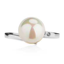 Rainbow Effect Pearl Sterling Silver Sales Promotion 3a Zirconal Stone Finger Ring