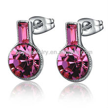Top selling special design gemstone semi precious jewelry earrings in party