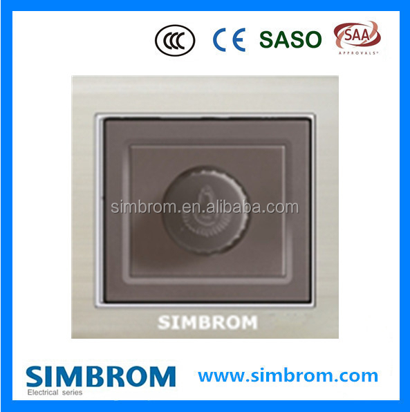 British standard 250W Fan dimmer led light switch black color