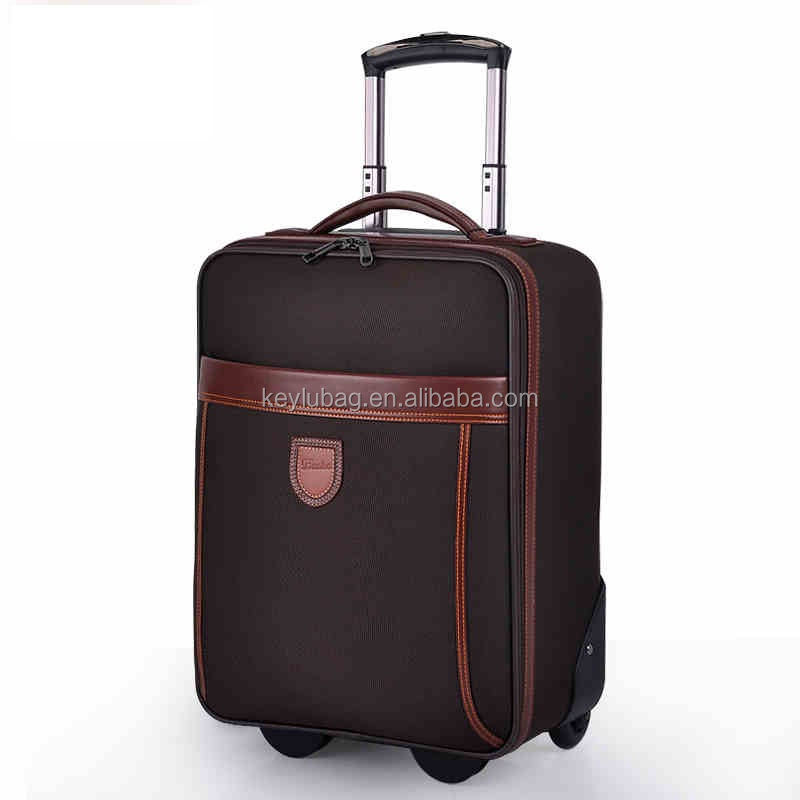 Factory hot high quality farbic suitcase trolley luggage used vintage luggage