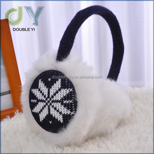 Customize winter wholesale cheap music winter Knitting plush earmuffs