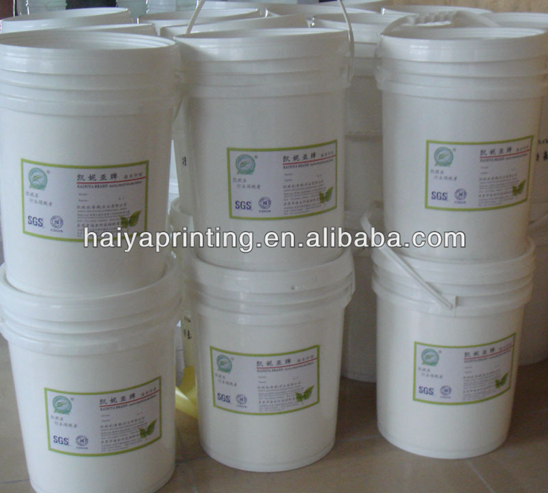 Water based high density ink for heat transfer printing