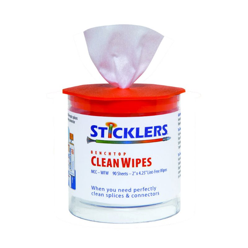 Sticklers CleanWipes90 MCC-WFW for Fiber Optic clean