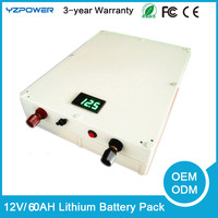 DC 12V 60AH Lithium Ion Recharger
