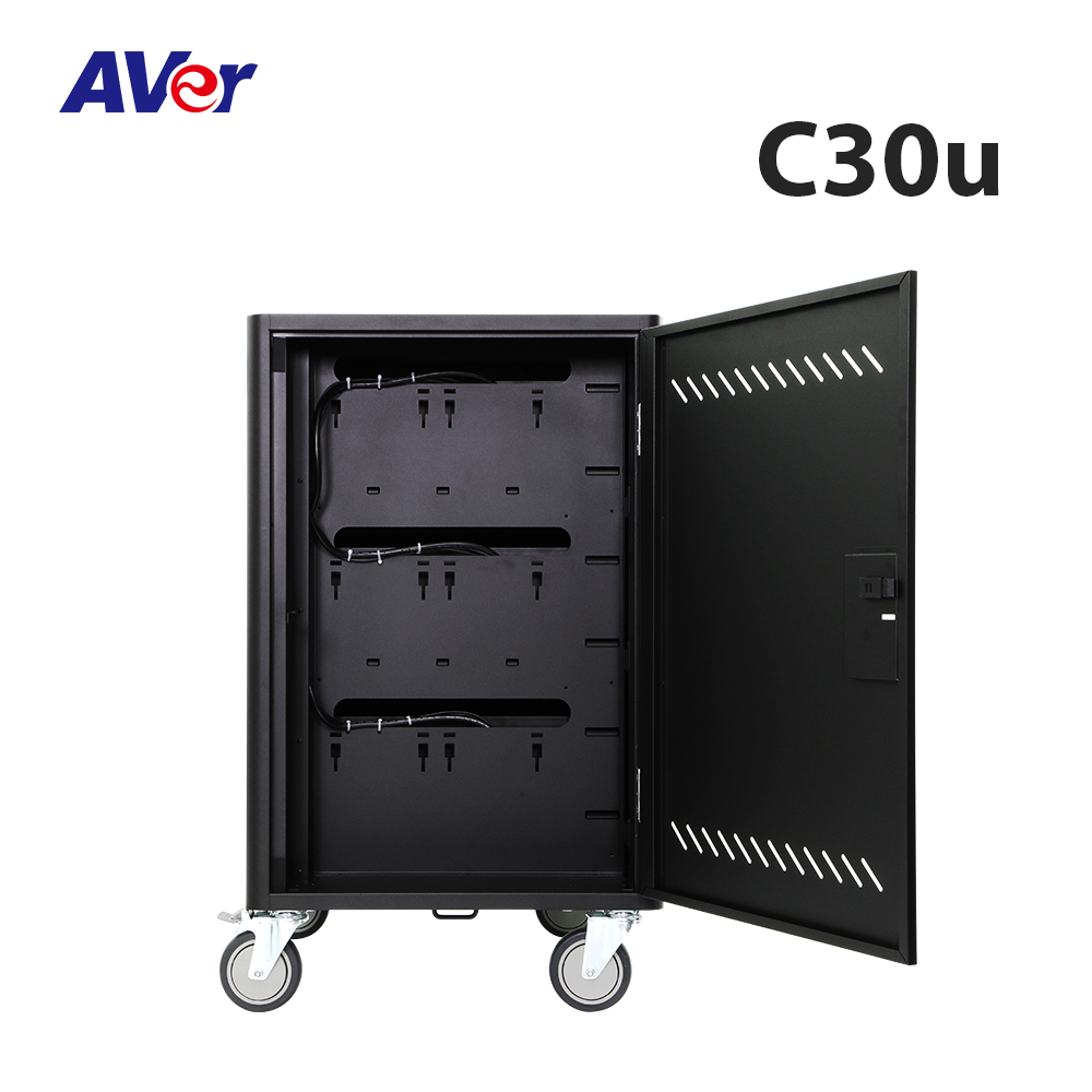 C30u Charge & Sync Cart,C30u Charge & Sync Trolley,AVer C30u 30 Device USB Charge and Sync Cart,iPad Air,USB port,Galaxy,charge