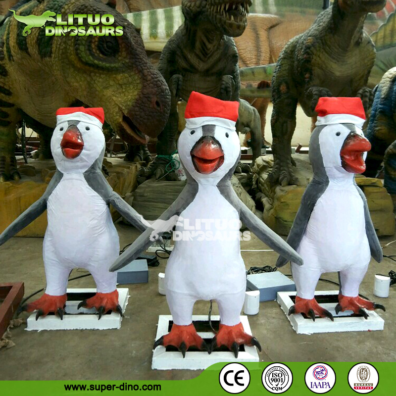 Animated Animatronic Animal Model Christmas Penguin Model