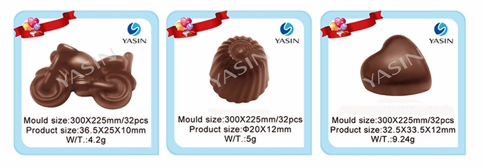 100% food grade PC chocolate mould