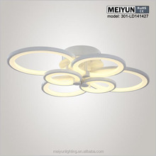 LED modern ring ceiling light