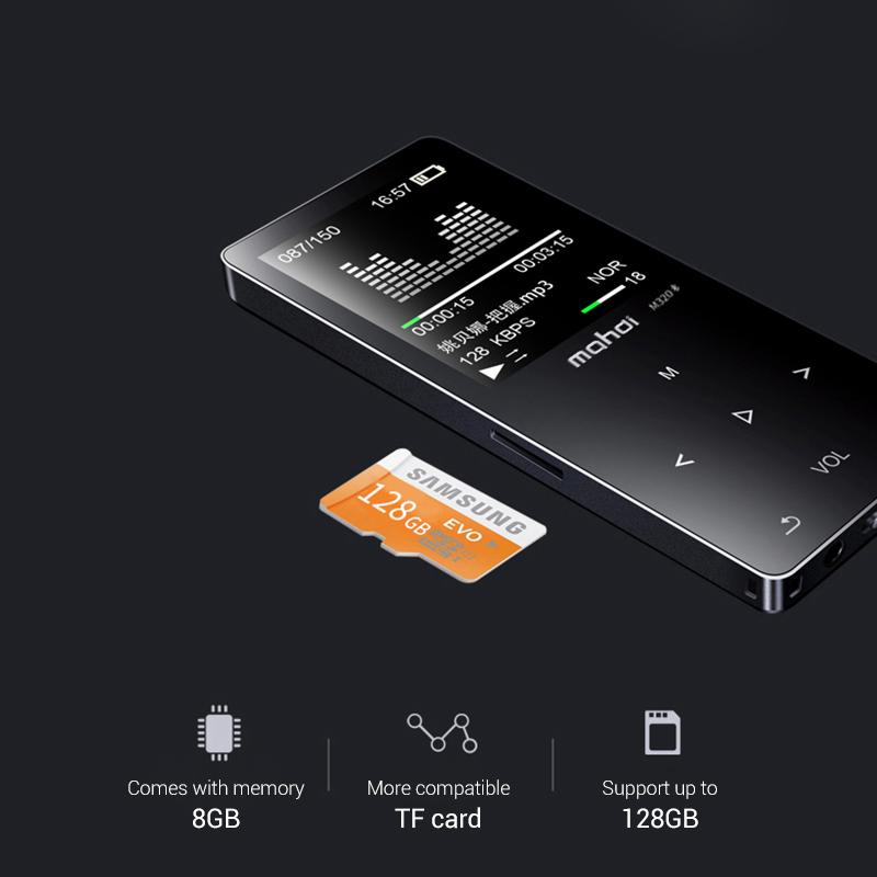 Mahdi M320 Hifi Lossless Music Bluetooth MP3 Player 1.8 TFT Screen 8GB Memory Multifunction MP3 Player Support FLAC ALAC Format (14)