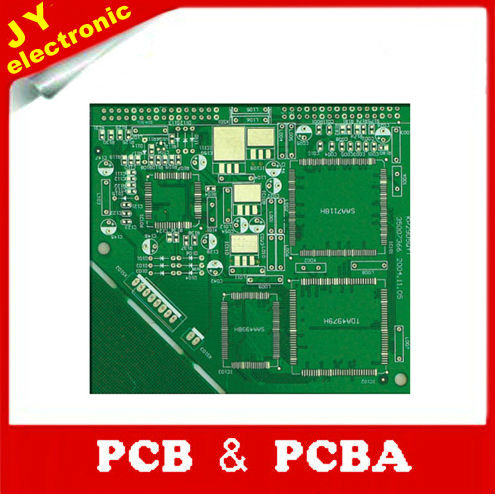 double-sided pcb board with green solder mask