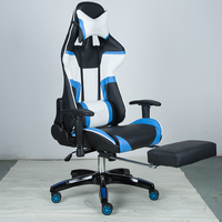 Best selling High Quality Blue Modern leather Ergonomic recliner chair gaming racing chair