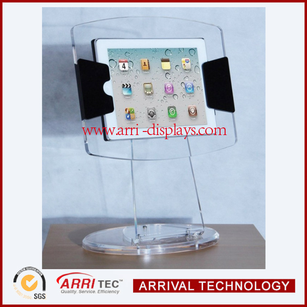 Clear Acrylic iPad Display Case Stand,desktop acrylic display stand