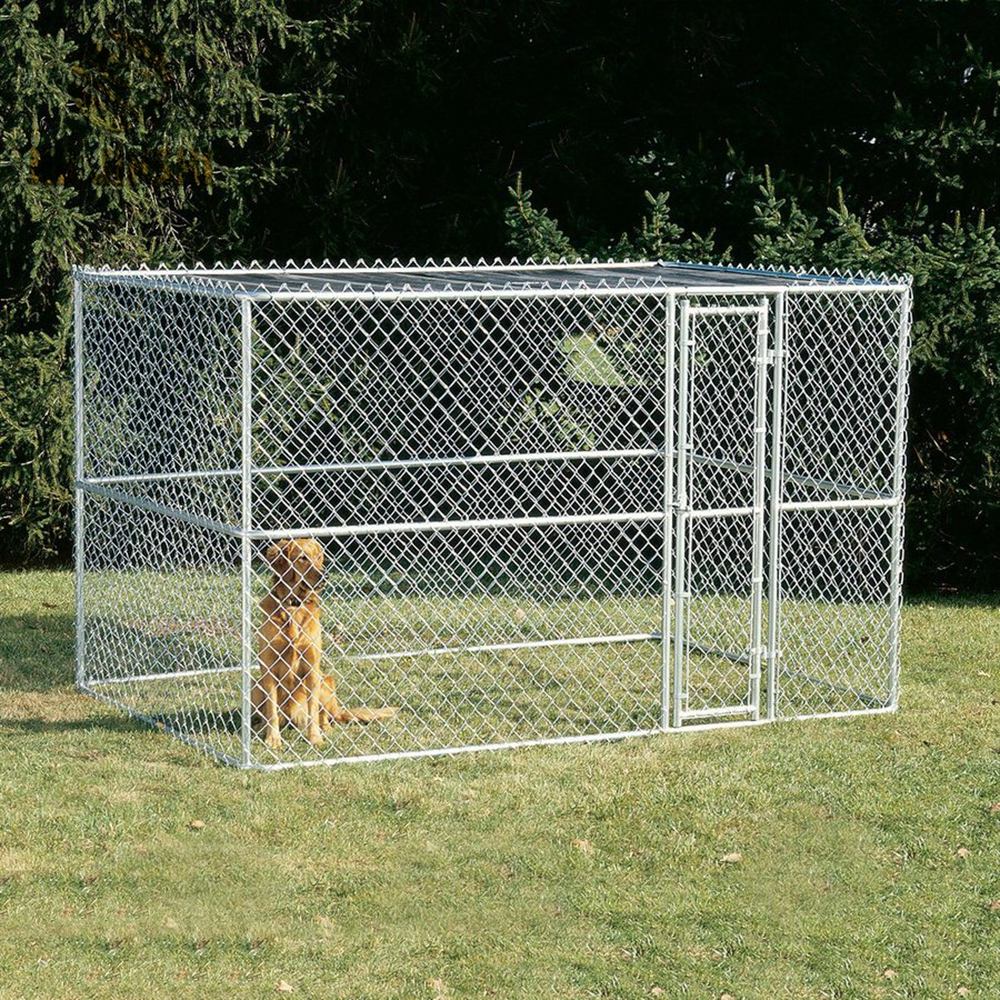 Large Dog Play Ground Outdoor Metal Chain Link Dog Kennel