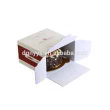 Custom hard white corrugated cake box packaging , white thick cardboard box