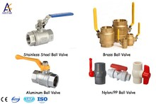 A number of types, Gate, Plug, and Ball valve for pipe connector