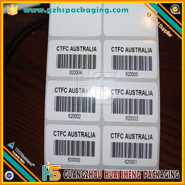 custom high quality waterproof qr code sticker printing,Private Label