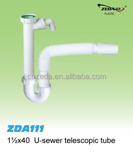 plastic kitchen sink drainer waste pipe , wash basin waste tube,sink bottle Plumbing trap