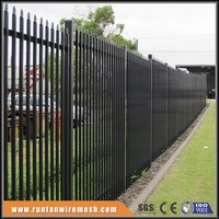 Hot sale Black Powder Coated metal fence for gardens