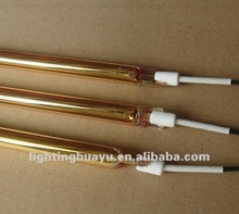 Gold coating infrared quartz heating element